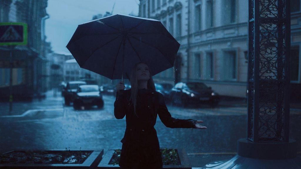 pluie dans la ville